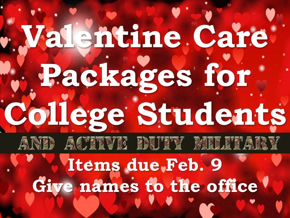 Valentine Care packages for College Students