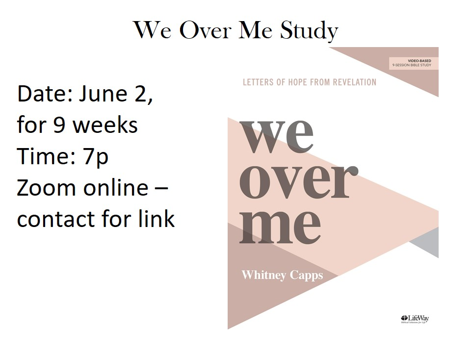 """We Over Me"" Study"