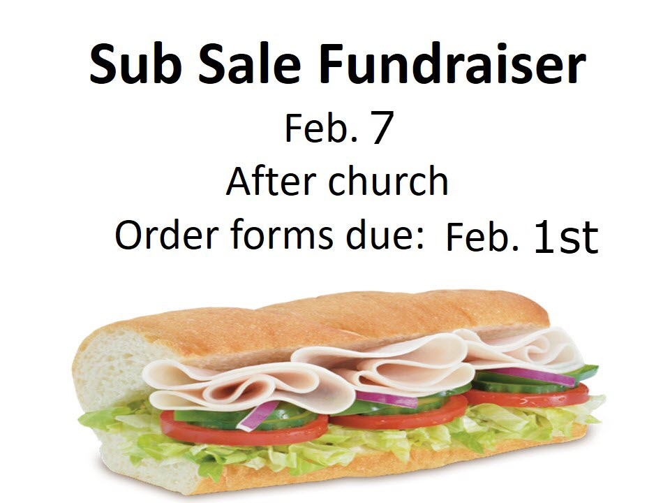 Sub Sandwich Fundraiser