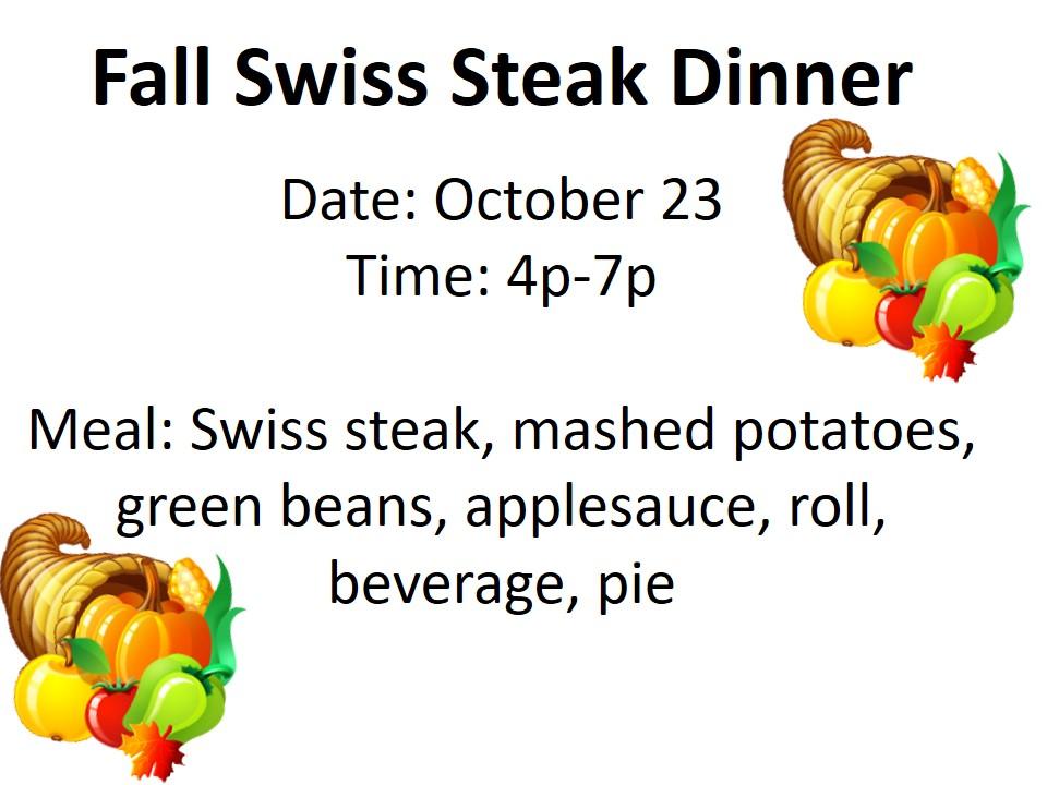 Swiss Steak Dinner